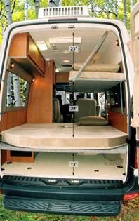 Design Your Own Motorhome sprinter dyo 7 bunks and platform beds sportsmobile