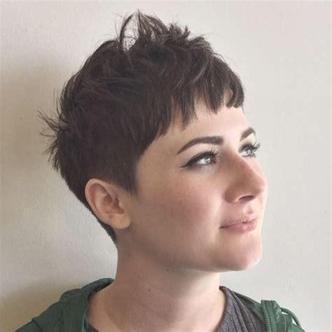 choppy pixie with long bangs 40 cute looks with short hairstyles for round faces