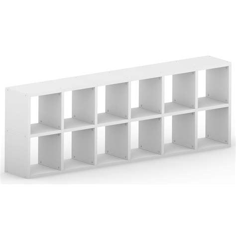 modular 12 horizontal white 2164l x 760h x 328d mastershelf