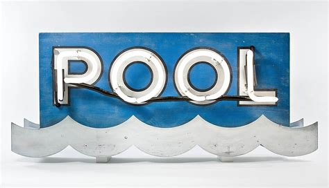 Design Your Pool by Neon Motel Pool Sign
