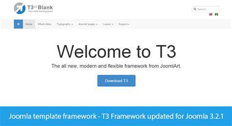 joomla template framework t3 framework updated for