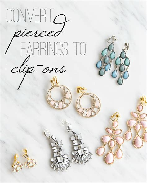 Clip On Earrings Earrings how to convert earrings to clip on just a