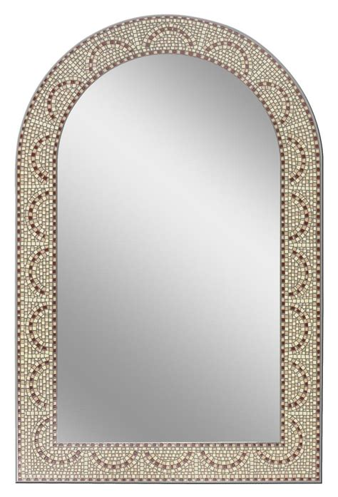 mosaic bathroom mirrors earthtone mosaic arch bathroom mirror bathroom mirrors