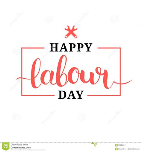 Happy Labor Day Weekend Vacation Time by Happy Labour Day Illustration Concept With Wrenches 1st Of