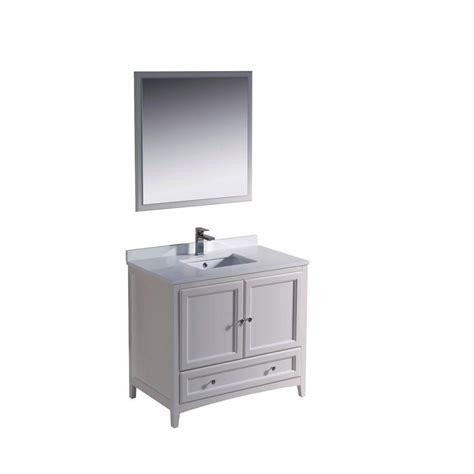 fresca oxford 36 in vanity in antique white with ceramic