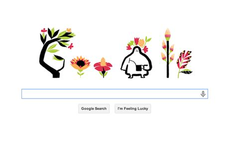 google design your time google celebrates the first day of spring with doodle