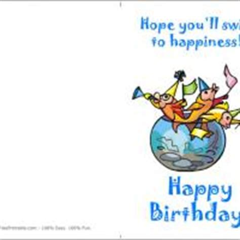 printable birthday cards fishing o fish al birthday