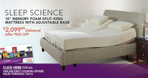 Sleep Science 8 Memory Foam Mattress by Costo Save On Sleep Science Memory Foam Mattresses Plus