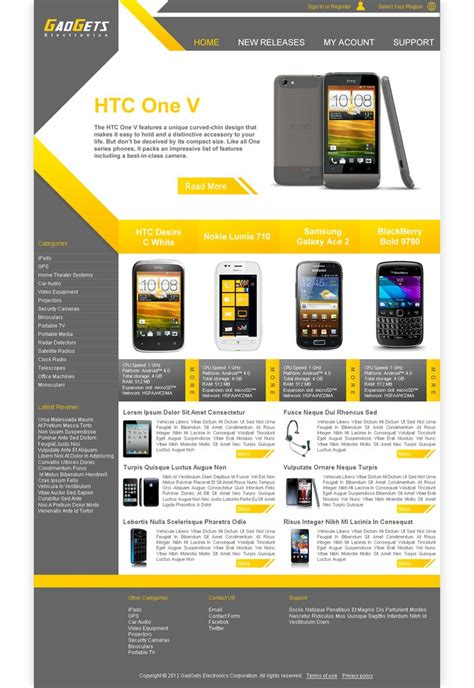 electronics website template by algerianoo on deviantart