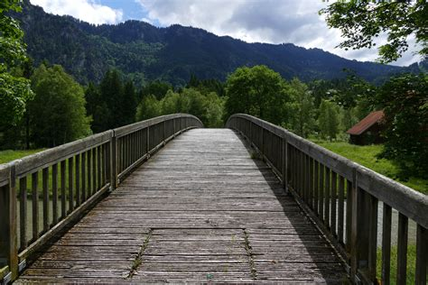 stock photo  bridge footbridge path