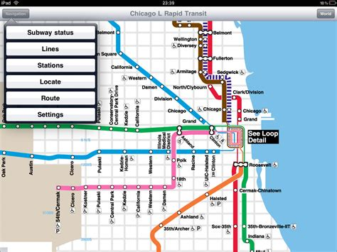chicago l map chicago l rapid transit application for