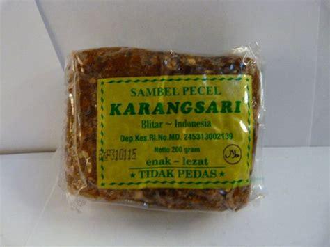 Sambal Pecel Kacang Karangsari 200gr karangsari sambel pecel tidak pedas 200gr toko asia