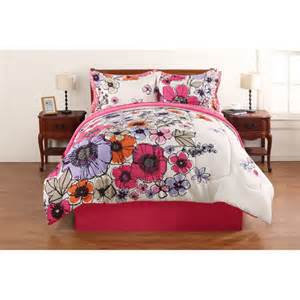 mainstays coordinated bedding set watercolor floral