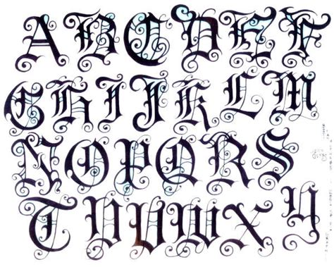tattoo fonts style zee post