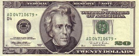 new year us dollar bill andrew jackson replaced on 20 dollar bill with no