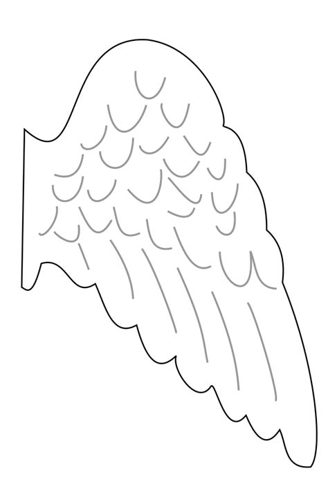 free coloring pages of angel wings drawing