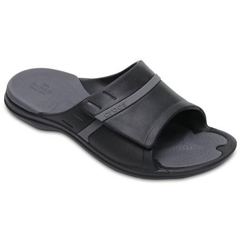 bedroom slippers with arch support crocs crocs modi sport slide black graphite u1 204144