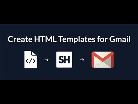 how to create and send html email templates using