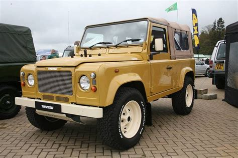 retro range rover defender with retro look land rover defender
