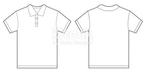 White Polo Shirt Design Template For Men Stock Vector Art More Images Of 2015 494945574 Istock Polo Shirt Design Template
