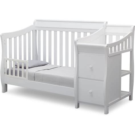 Gray Convertible Crib With Changing Table Amazoncom Storkcraft Calabria Crib N Changer Baby Baby