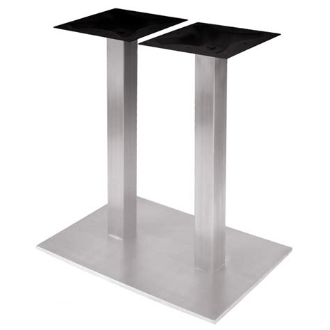 stainless steel table bases dining rsq1828 stainless steel table base dining height 28 1