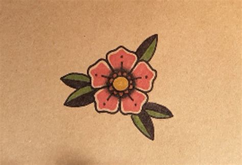 tattoo flower old school how to draw an old school flower tattoo by thebrokenpuppet