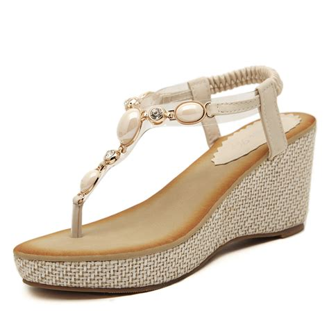 Sandal Bohemia White by 2015 Fashion Bohemia Flip Flops Sandals Black White