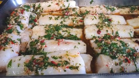 Garlic Powder Alsultan oven roasted cod potatoes with cilantro garlic