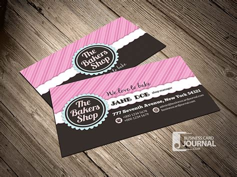 bakery business card template 25 free pink business card templates for designyep