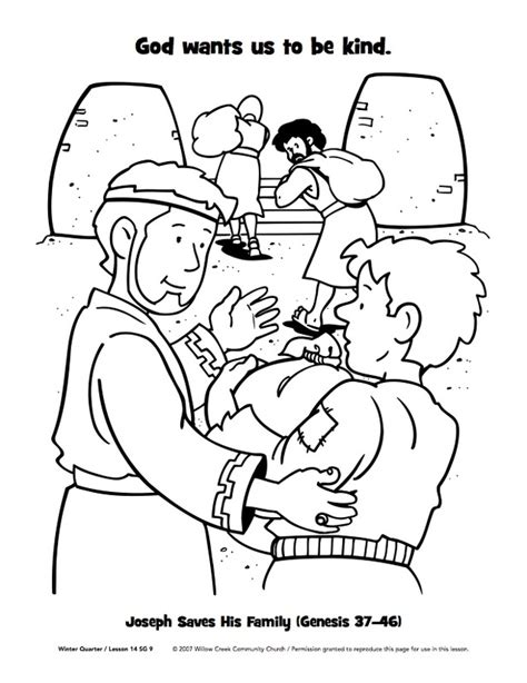 free coloring pages of joseph forgives his brothers