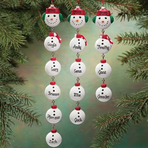 snowman family ornament snowman christmas ornament