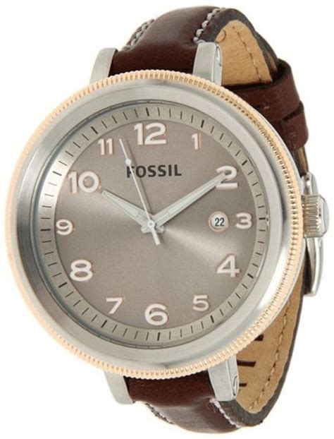 Fossil Woody Brown fossil bridgette grey brown leather band