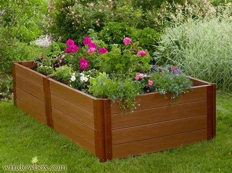 Tomato Planter Boxes by Raised Planter Box No Rot Raised Garden Windowbox