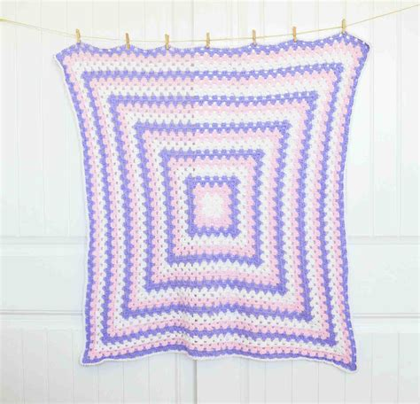 Free Square Baby Blanket Pattern by Square Baby Blanket Free Crochet Pattern