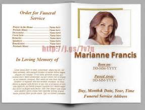 funeral program template doc 550550 sle funeral program template 30