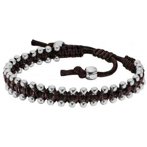 Bracelet Police PJ25536BLC02   Bracelet Tressé Marron Homme sur Bijourama, référence des bijoux