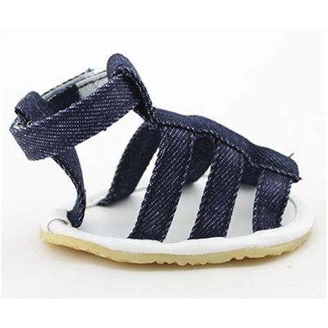 Sandal Denim Carakter big small sandals navy blue denim