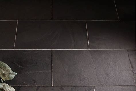 Indian black slate floor tiles
