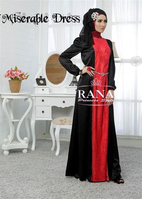 Gamis Pesta Rana Miserable By Rana Merah Baju Muslim Gamis Modern