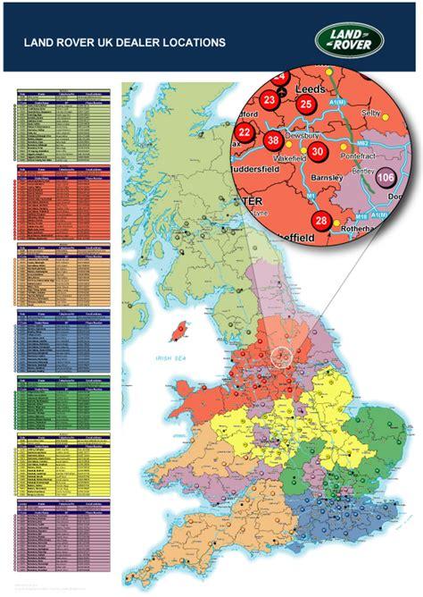 map uk zip codes uk dealer landrover postcode maps post code maps