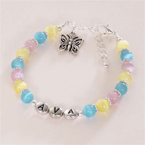 name bracelet with butterfly charm jewels 4