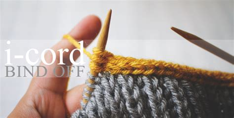 knitting i cord edging i cord bind tutorial step by step