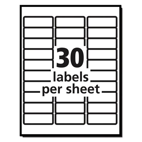 return address labels template 30 per sheet 20 sheets 30 labels per sheet avery easy peel laser mailing labels 1 quot x 2 5 8 quot ebay