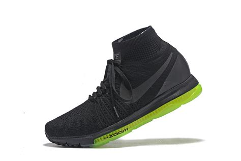 Sepatu Nike Zoom Flyknit Sneakers Running nike zoom all out flyknit black green running shoes sneakers trainers 844134 002