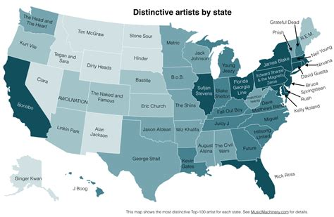 in tse it states how the animatronics quot looked more real favorite bands by state map from the echo sound time