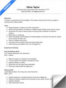 makeup artist instructor resume sle