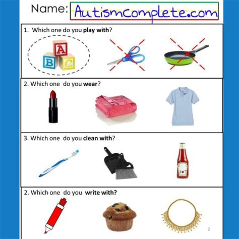 Autism Worksheets by 14 Best Images About Autism Worksheets Receptive Language