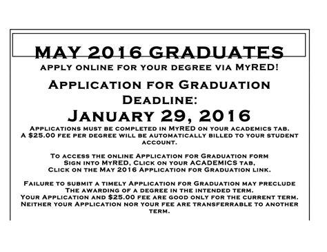 of nebraska lincoln application may 2016 graduation application deadline announce