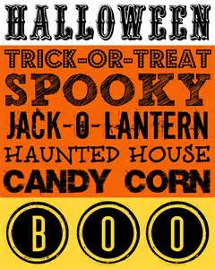 Free Halloween Decoration Printables Candy Corn Halloween Subway Printable A Night Owl Blog